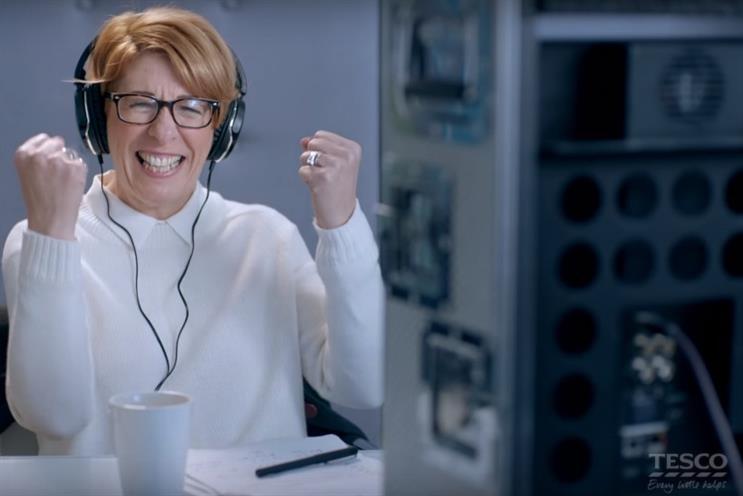 Tesco ad: psychotherapist and matchmaker Rachel Morris celebrates a successful pairing