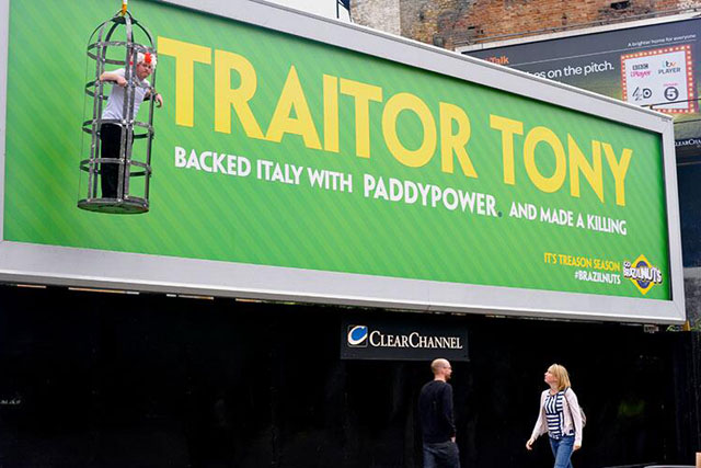 Paddy Power: runs World Cup 'traitor' stunt