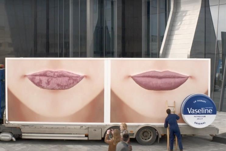 Vaseline: Unilever drove a pair of giant lips across the world