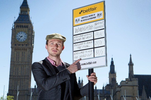 Betfair: sets uo its stall outside parliament