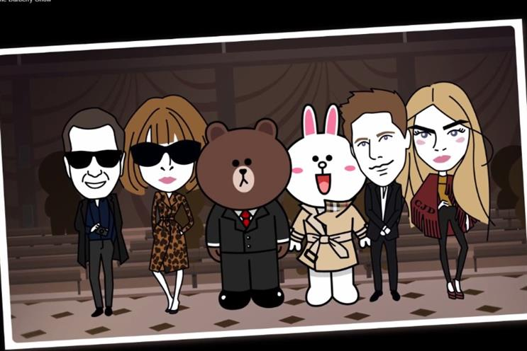 Burberry: appealing to Asia through Line
