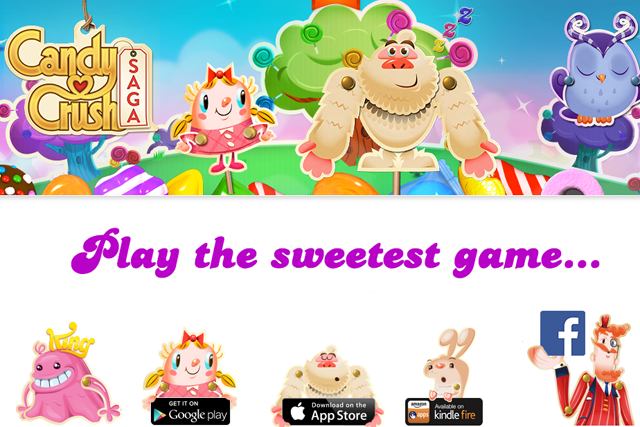 Candy Crush Saga offers 1075 levels of the game across 73 episodes