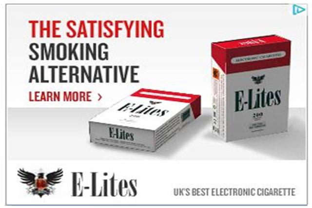 E-Lites: one of four e-cigarette brands criticised by the ASA