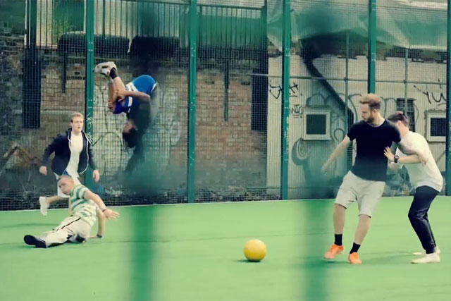 Pepsi Max: freestyle footballers amaze on a tricked-out pitch