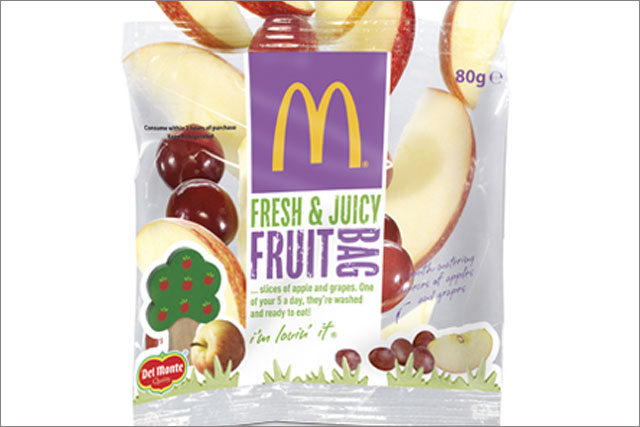 McDonald's: to give away fruit bags to Happy Meal customers in the UK
