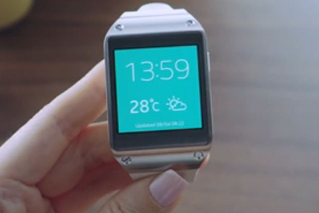 Samsung: recently unveiled its Galaxy Gear smartwatch device