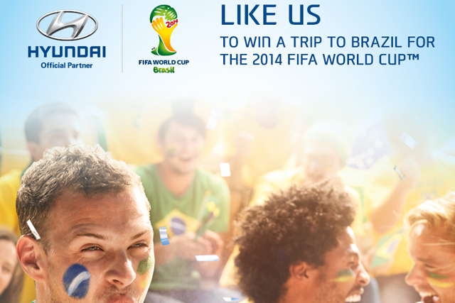 Hyundai: the vehicle brand's World Cup Facebook page