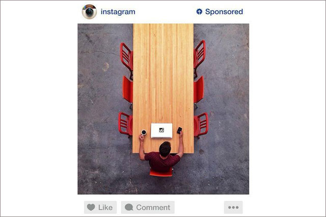 Instagram: the sample ad rolls out in the US in the next week