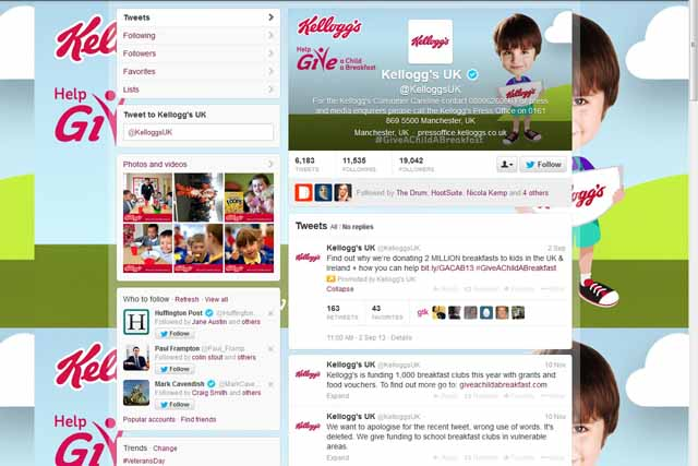 Twitter erupts in fury over Kellogg's '1 RT = 1 breakfast for a vulnerable child' pledge