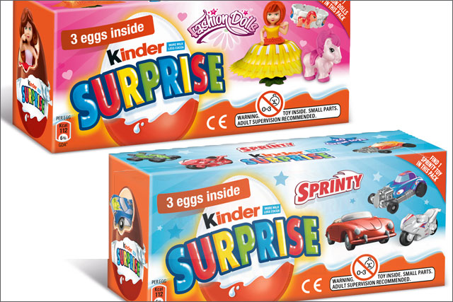 Kinder: unveils its limited-edition pink and blue eggs