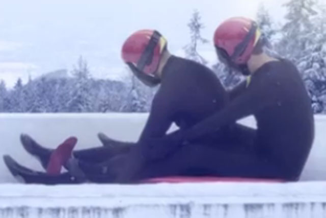 Winter Olympics: film of two men on luge disparages Russia's anti-gay laws