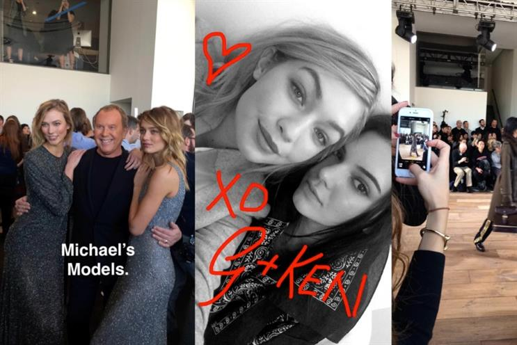 Michael Kors: following the fans on Snapchat