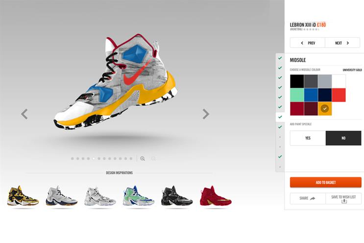 Nike ID has allowed its users to customise their trainers online
