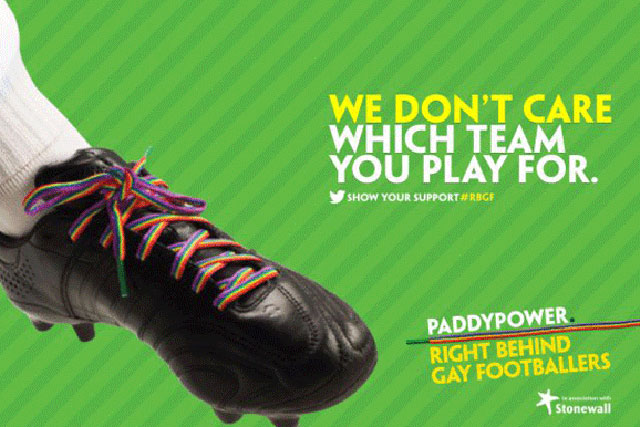Paddy Power: anti-homophobia campaign benefited from Twitter activity