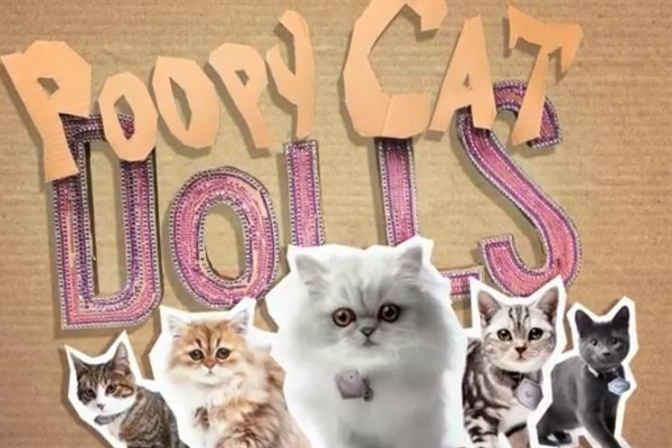 Poopy Cats: the ad has been 'clawing' its way up the viral chart