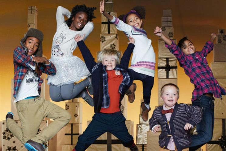 Diversity in ads: Marks and Spencer's 2012 Christmas ad starring Seb White, a model with Down's Syndrome