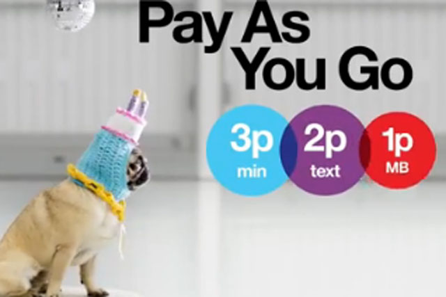 Three: launches TV campaign to promote its pay-as-you-go tariff