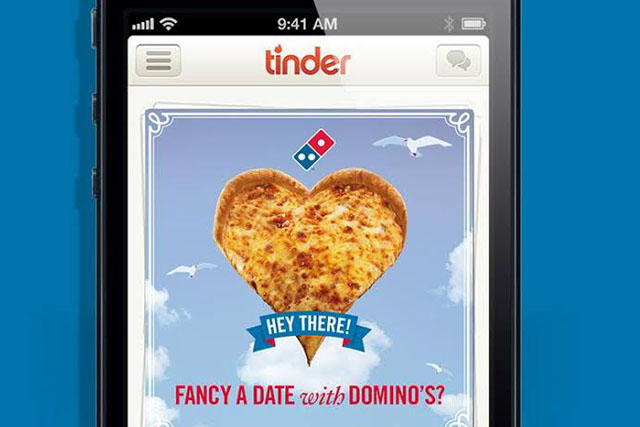 Domino's Pizza : uses dating app Tinder to offer tasty deals on Valentine's Day