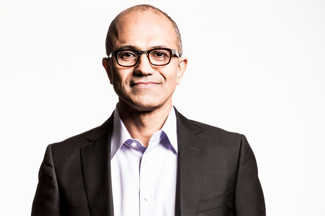 Satya Nadella: joined Microsoft as chief executive in February
