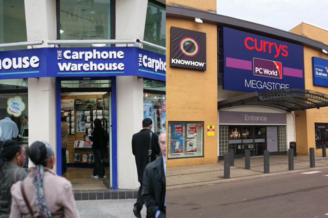 Dixons and Carphone Warehouse: merger goes ahead (Carphone Warehouse pic: Colin Stout)