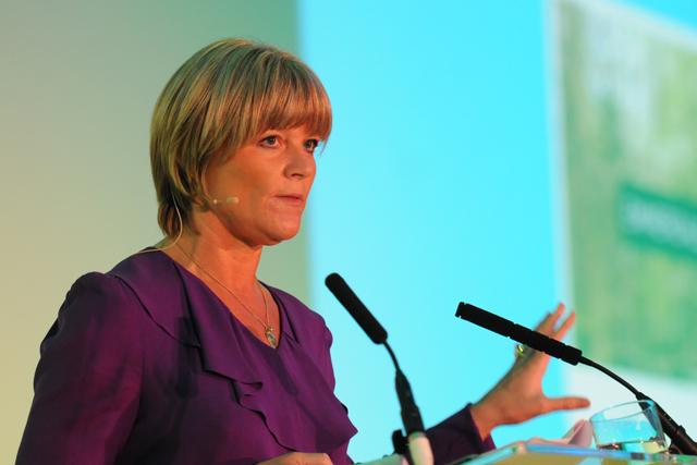 Fru Hazlitt: addresses the AOP Summit 2011