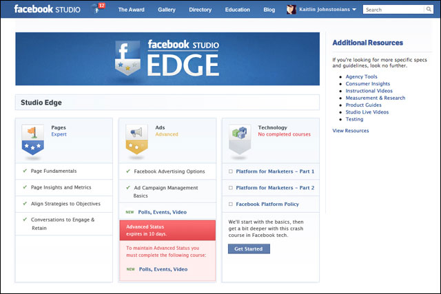 Facebook: sets up the Studio Edge creative tool for agencies