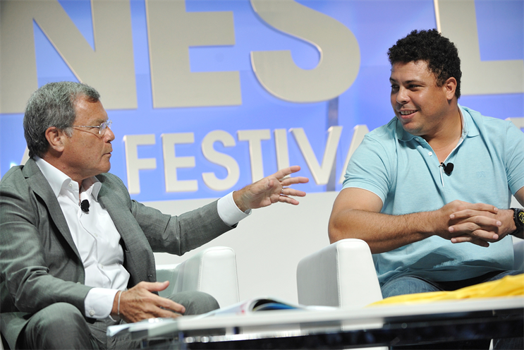 Sir Martin Sorrell with Ronaldo