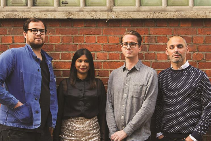 18 Feet & Rising: (l to r) Matt Keon, Anna Carpen, Rob Ward and Jonathan Trimble