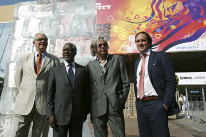 Annan and Geldof... launching climate change campaign