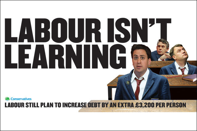 Conservative campaign: created by M&C Saatchi