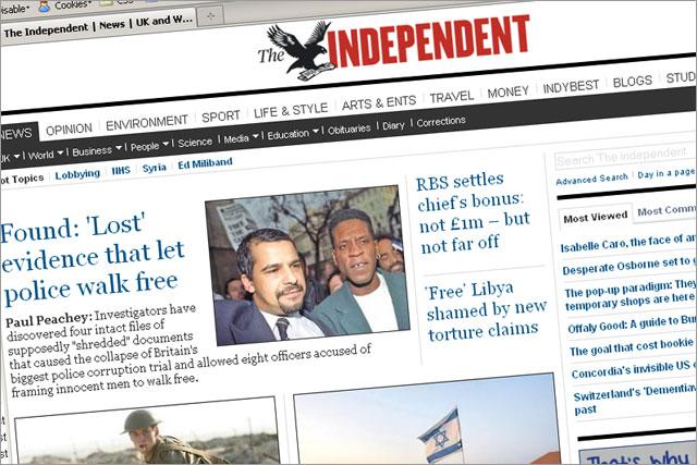 The Independent: 2011 redesign boosts online figures