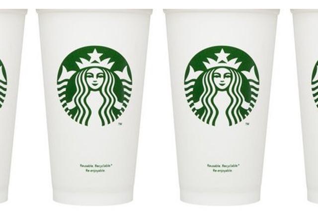 Starbucks: introduces reusable cup