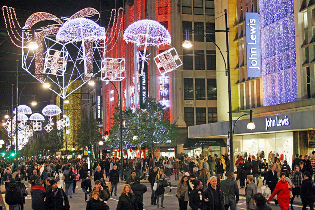 Christmas rush: yet to get into full swing