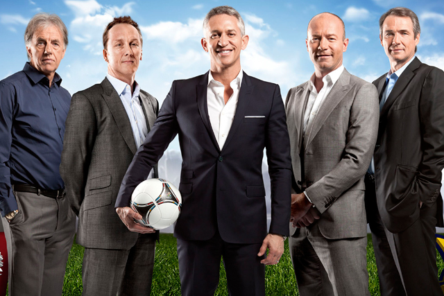 BBC One's Euro 2012 team