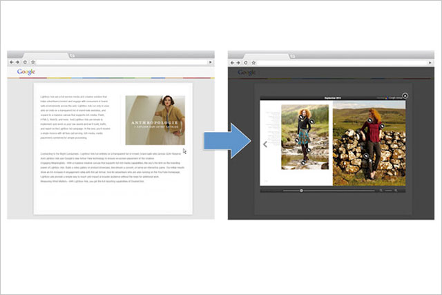 Google: introduces lightbox format