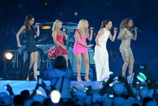 Spice Girls: during the closing ceremony performance at the Olympics