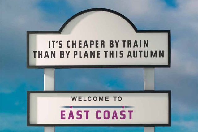 East Coast: 'cheaper by train' ad is banned by ASA