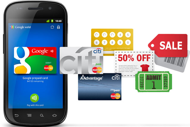 Google Wallet: for Android phones with near-field communication (NFC) technology