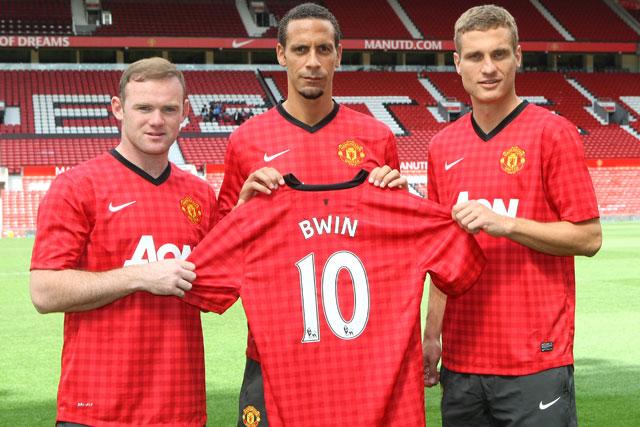 Bwin deal: Manchester United players Wayne Rooney, Rio Ferdinand and Nemanja Vidic