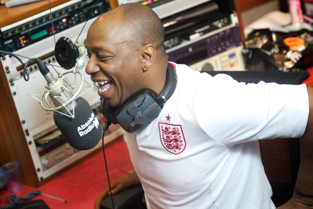 Ian Wright: former England player presents Absolute Radio's Rock 'N' Football show