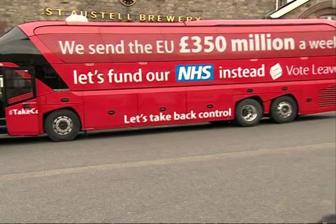Leave campaign's £350m claim was disavowed by senior Conservatives