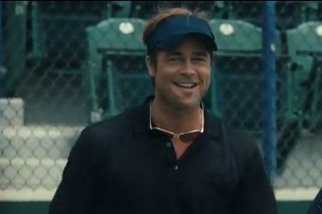 Brad Pitt: star of Moneyball to be the new face of Chanel No 5