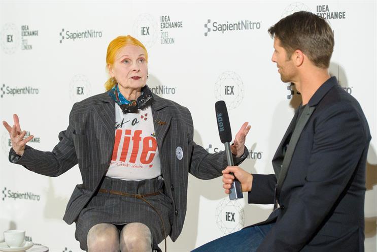 Vivienne Westwood: talks to Malcolm Poynton, SapientNitro's EU creative chief
