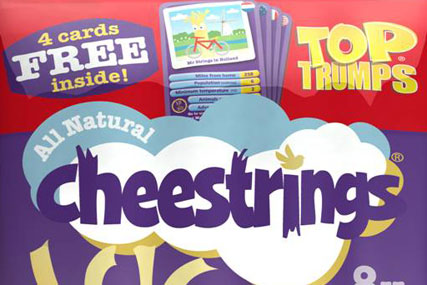 Cheestrings: offering in-pack Top Trumps cards