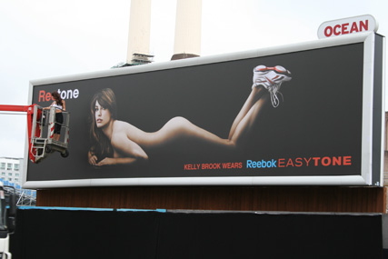 Reebok: outdoor ad featuring Kelly Brook