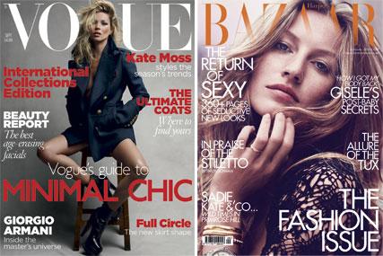 Vogue and Harper's Bazaar…improved ad volumes