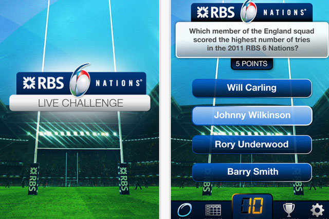 RBS: rolls out Six Nations Live Challenge app