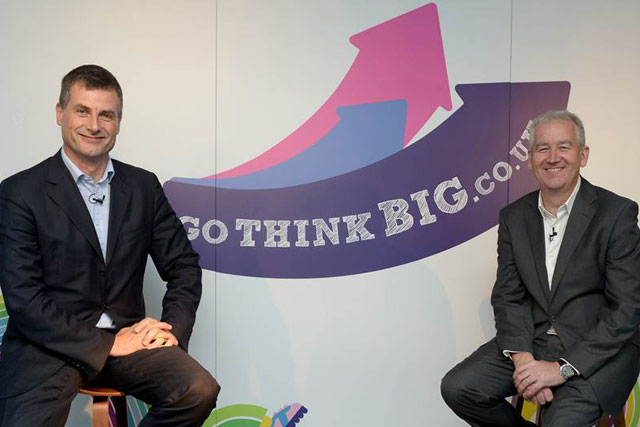 GoThinkBig: chief executives Ronan Dunne of O2 and Paul Keenan of Bauer Media
