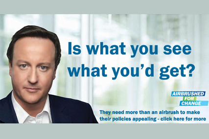 Tory spoof: appeared on Labour website