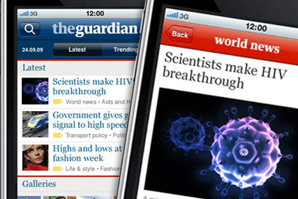The Guardian's app: downloaded 100,000 times within two months of its launch